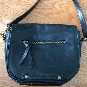 Tignanello Black Leather Crossbody Bag